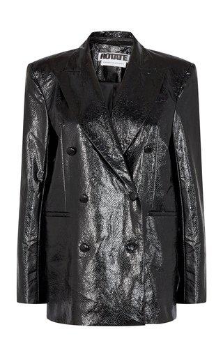 Fox Structured Faux-Leather Blazer