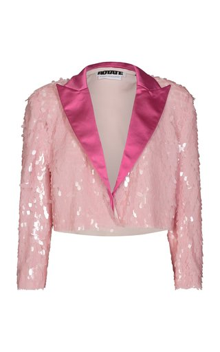 Foxy Sequined Tulle Blazer