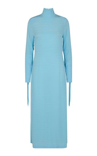 Reba Fringed Eco-Jersey Maxi Dress