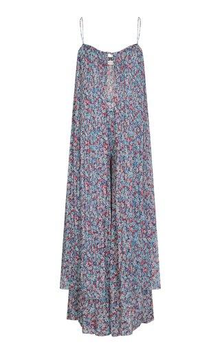 Sandy Floral-Printed Top And Pants Set