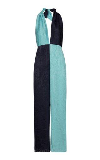 Meghan Color-Blocked Crepe Jumpsuit