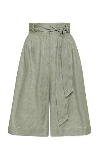 Ivy Belted Linen Shorts
