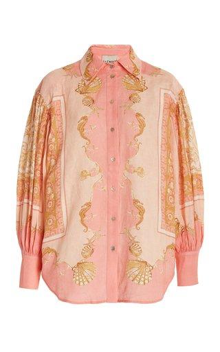 Ursula Printed Linen Shirt