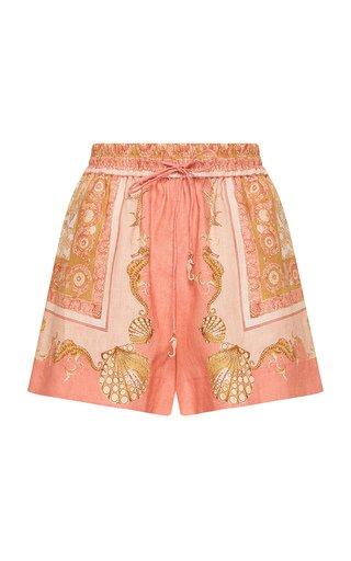 Ursula Printed Linen Shorts