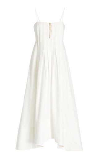 Selene Pleated Cotton Dress