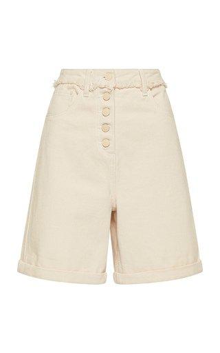 Yolo Fray-Detail Denim Shorts