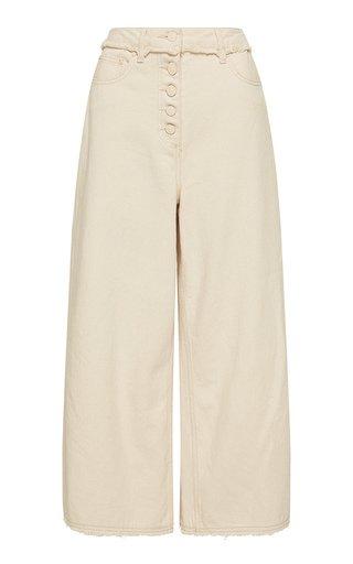 Yolo Frayed Rigid Mid-Rise Jeans