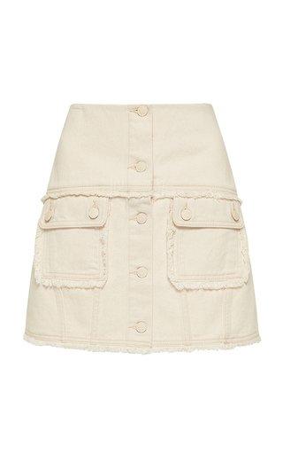 Yolo Denim Mini Skirt