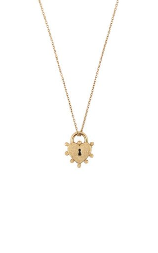 18K Yellow Gold I Lock You So Much Pendant