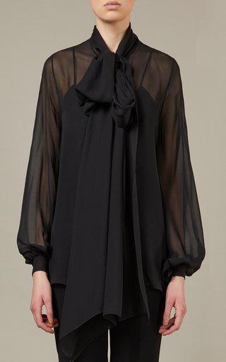 Draped Silk Shirt