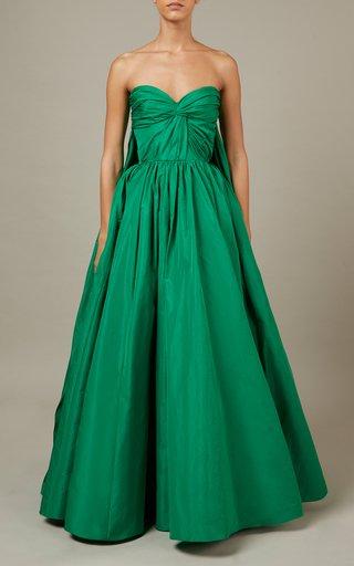 Taffeta Maxi Dress