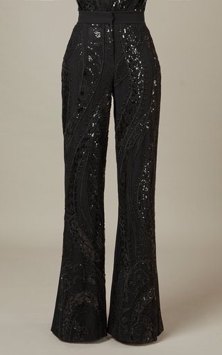 Embroidered Tulle Pants