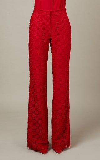 Floral Macrame Pants