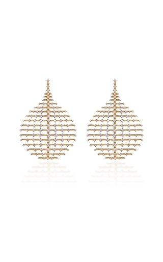 Medium Disco 18K Yellow Gold Diamond Earrings