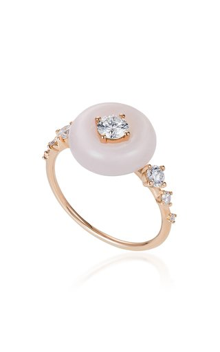 Orbit 18K Rose Gold Opal, Diamond Ring