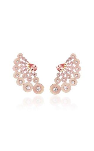 Astro 18K Rose Gold Multi-Stone Earrings