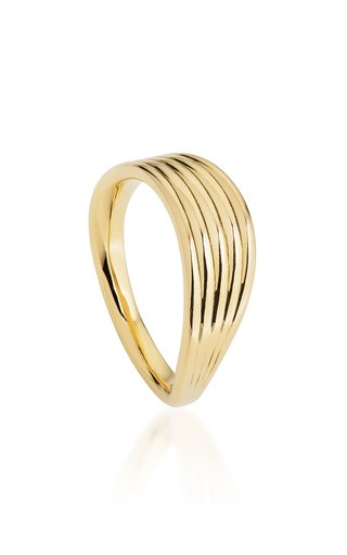 Stream Lines 18K Yellow Gold Ring