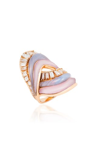 Stream Cycle 18K Rose Gold Multi-Stone Ring