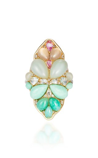 Blossom 18K Yellow Gold Multi-Stone Ring