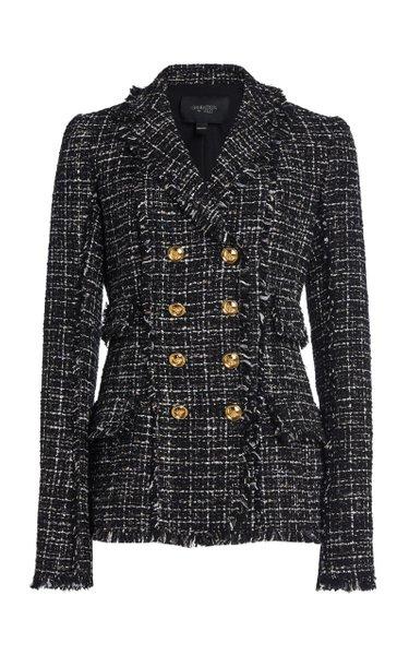 Collared Lurex Boucle Jacket