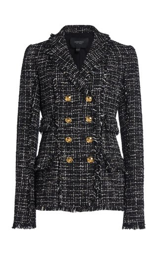 Collared Lurex Boucle Jacket
