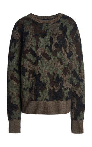 Camo Knit Top