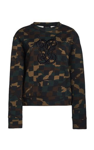 Camo Logo Cotton Sweater