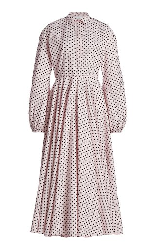 Polka Dot-Printed Cotton Dress