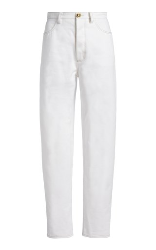 Straight-Leg Cotton Gabardine Trousers