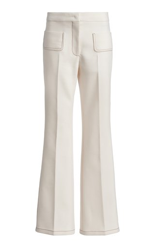 Fitted Wool-Blend Pants