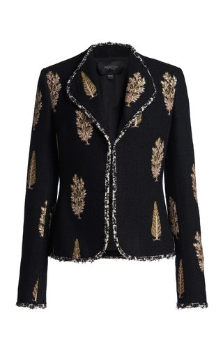 Embroidered Boucle Blazer