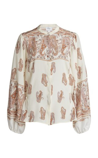 Printed Crepe De Chine Blouse