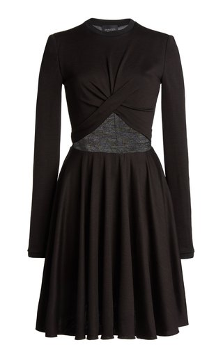 Jersey Lace-Paneled Dress