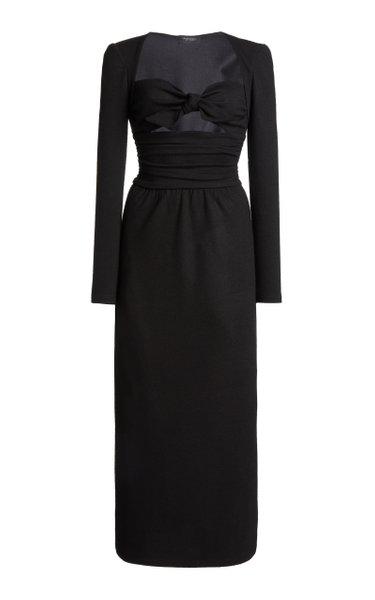 Cutout Wool-Jersey Maxi Dress