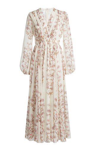 Floral-Printed Silk Georgette Dress