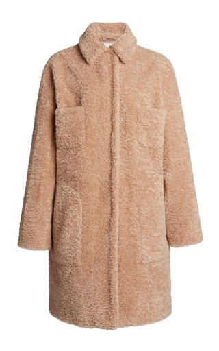 Collared Eco-Fur Coat