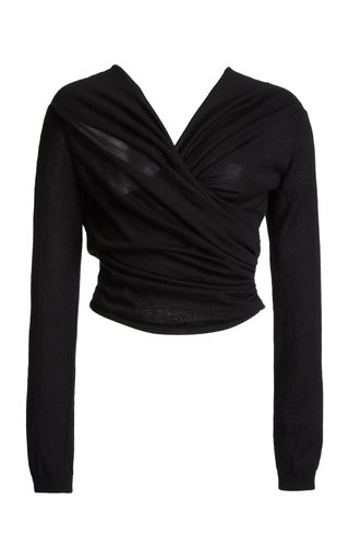 Ruched Cashmere Silk Top