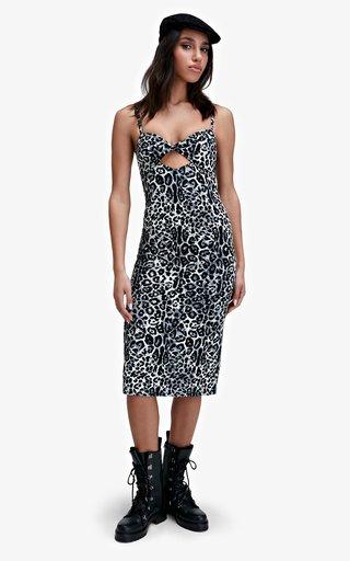 Delta Animal-Printed Cotton-Blend Dress