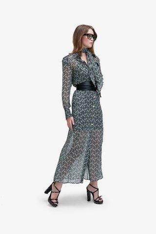 Lia Printed Silk Dress