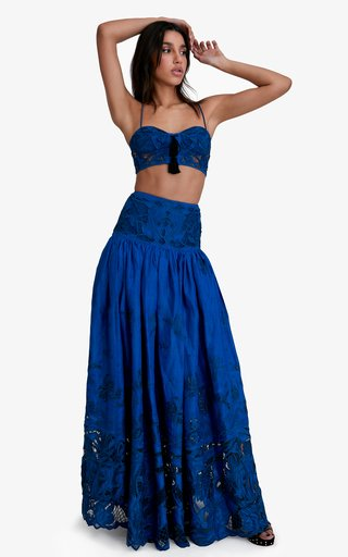 Bianca Cotton-Linen Maxi Skirt