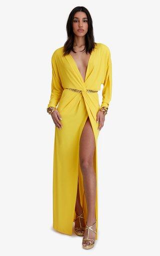 Garbo Crepe Maxi Dress