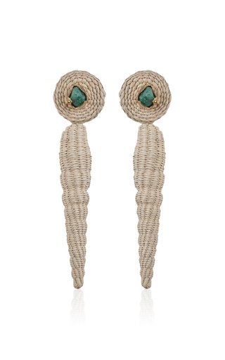 Emerald Natural Poesia Viva Maxi Earrings