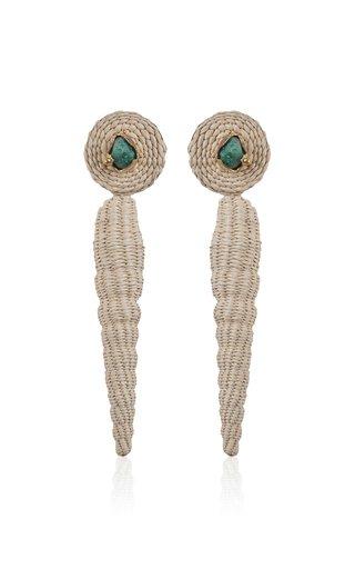 Emerald Natural Poesia Viva Maxi Earrings