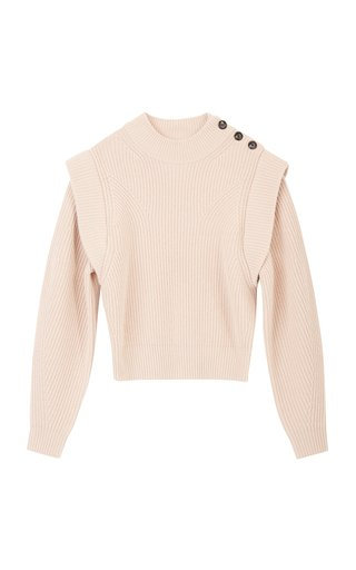 Peggy Ribbed Wool-Blend Sweater