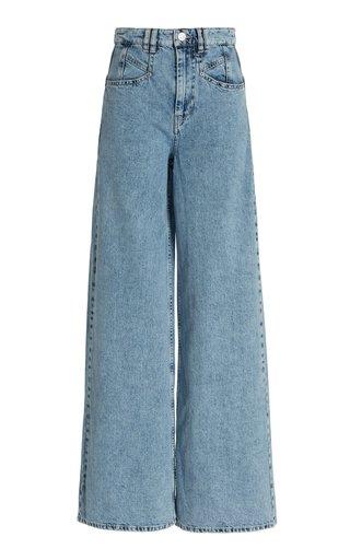 Lemony Rigid High-Rise Wide-Leg Jeans