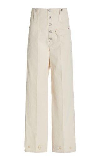 Darlena Tapered Cotton Workwear Pants
