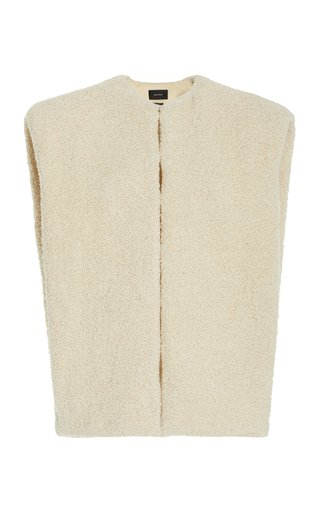 Gwendae Wool-Blend Shearling Sleeveless Jacket