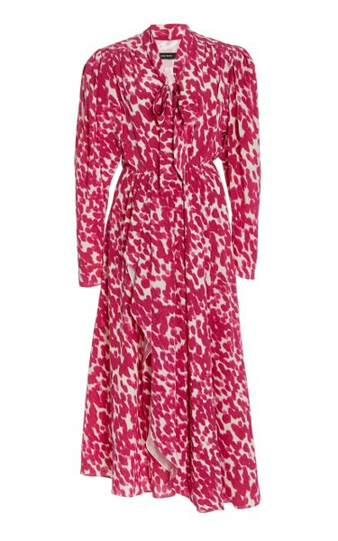 Bisma Printed Silk-Blend Dress