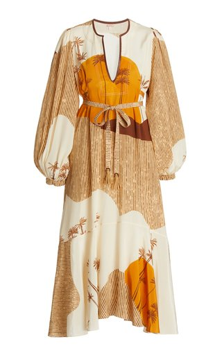 Sendero Viejo Silk Midi Dress