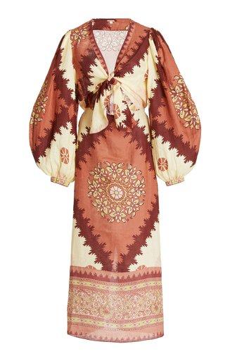 Sacred Soul Printed Linen Dress